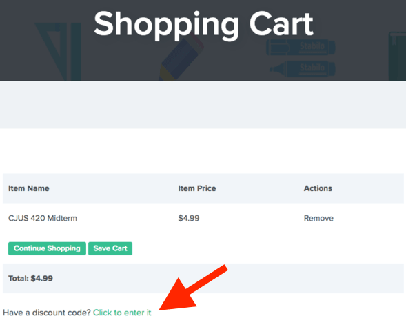 Homework Simple shopping cart