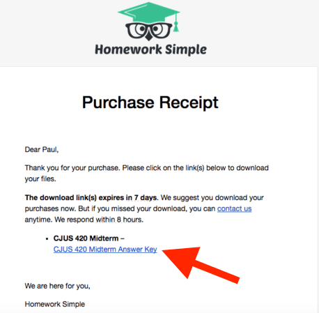 Homework Simple purchase receipt